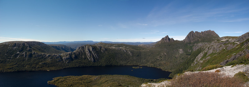 Dove Lake with Cradle Mountain to the right.