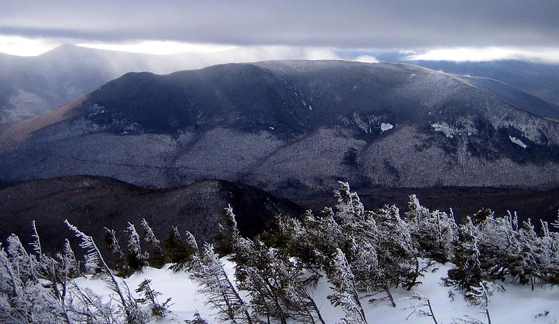 An awesome photo of Owls Head from Bond Cilff in winter conditions taken by Dave Metsky some ten years ago.  Spooky light conditions make the RR readily apparent.  This photo is what first inspired me look for the RR bed many years ago,  The RR jumped right out to me being RR buff and careful reader of Gove's RR books.