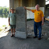 John and Allan at the Boundary Monument in Port Jervis.