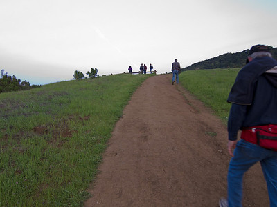 Then I went up the last bit of trail to the hilltop viewpoint