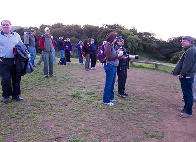 Sierra Clubbers atop Vista Point.