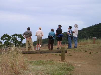 The group at the top, enjoying the view. (Jack, max, barbara, David, William, Brian)