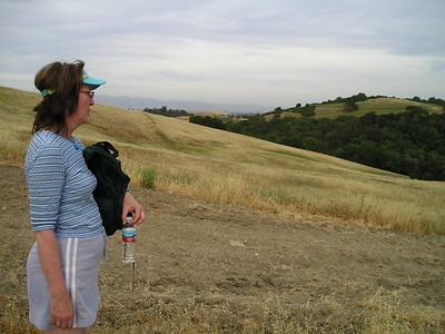 Even halfway up the hill, the views out across Silicon Valley were getting pretty spiffy. Paula and I take a brief breather. Thanks, Paula!