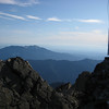 Looking south next to lookout. The large black mountain towards horizon is Mt Pilchuck