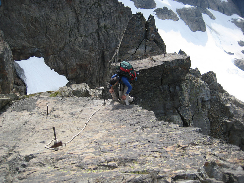 Norm changing from the ladder to the final ~20ft of rock beneath the lookout