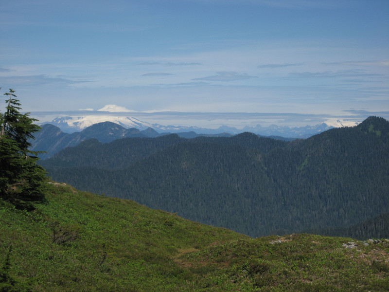 Got to Goat Flat, 5 miles from TH, looking North to Mt Baker.