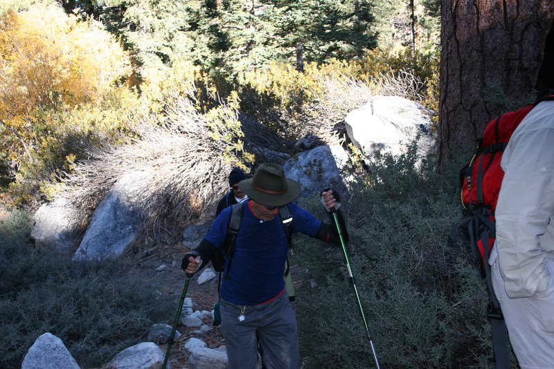 """Trekking along at a good clip still on the """"easy"""" part of the trail."""