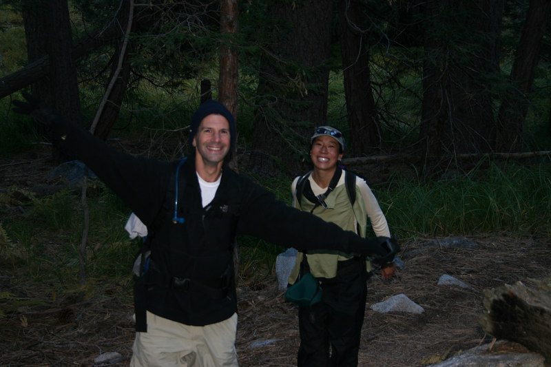 Dan and Irene still smiling... this is an easy hike!