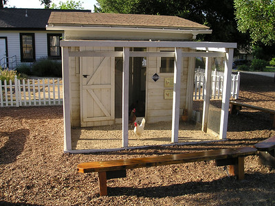 At the historic Bernal-Gulnac-Joice Ranch, Tika announced a fierce interest in the chickens in their coop. We didn't linger.