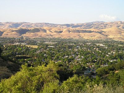 If you look at a larger version of this photo, you can just see Lick Observatory atop Mount Hamilton in the distance.
