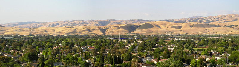 San Jose is a city of trees. The hills are hills of cattle and grassland and scrub, the latter two of which can burn like--uh--wildfire.
