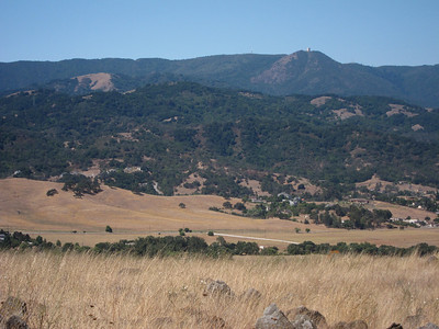 More of Mount Umunhum across the Almaden Valley.