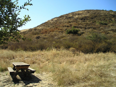 Immediately at the entrance, one lone picnic table.