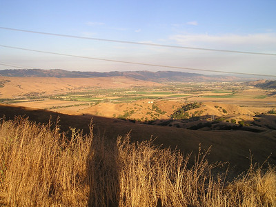 To the south, San Martin and Morgan Hill and some of the few remaining croplands in the valley.