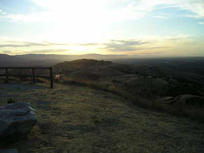 The view across the rest of Santa Teresa Park, which covers 1688 acres. Off in that direction is where we hiked back in June.