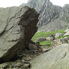 My path leads past this huge boulder and up onto the screes beyond