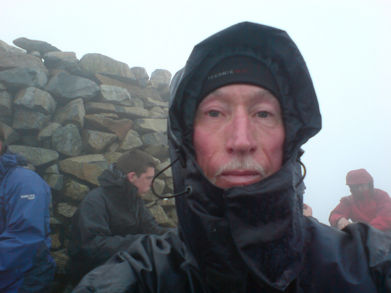 It was cold, grey and very wet at the summit.  I didn't stay long