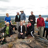 Ramble group on top of High Tor.
