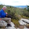 Tom Farrell on top of the Wurtsboro Ridge, looking south.