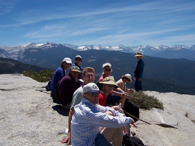 Group picture 1 on Little Baldy, looking south.