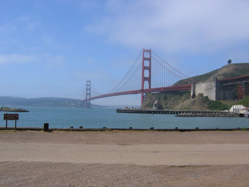 We walked over the Golden Gate and into San Francisco on July 4th!