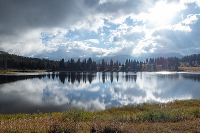 Little Molas Lake early cloudy morning