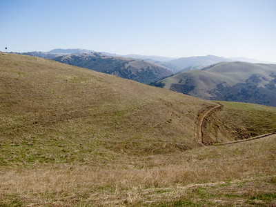 Looking across a bit of the new trail towards Mount Hamilton.