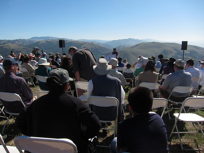Event seating as the speakers begin. I didn't write down names; this is the head of the Santa Clara Open Space Preserve, I think.