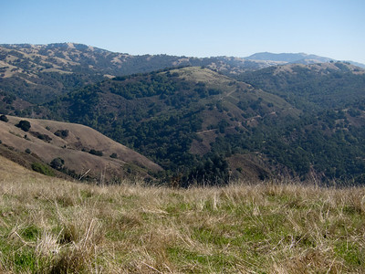 Looking southish towards Mount Hamilton. Domes of the telescopes are visible if you look at a large version of the photo.