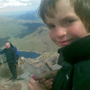 Harvey bags his first ever summit - aged 8 (not bad for such an old man)