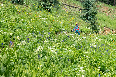 Stef amongst the Wildflowers