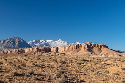Utah Hwy 95 View, Snowy Henry Mtns