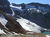 View of the Lyman Glacier coming down off of Chiwawa Mountain.