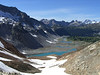 This view greets you on the opposite side of Spider Gap. These are the Upper Lyman Lakes.