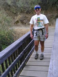 Jay crossing the bridge.