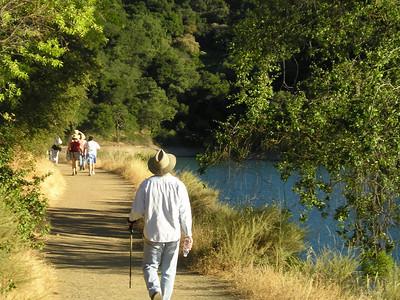 Trail alongside the reservoir.