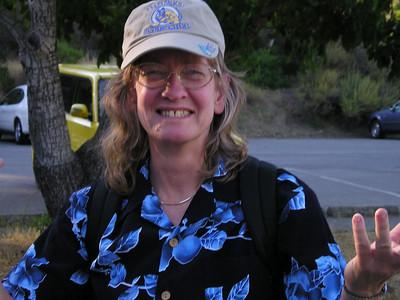 Ellen and her new Hawaiian shirt.