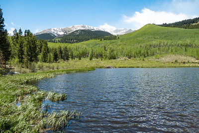 Another Beaver Pond, Mountains and Aspens