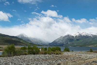 Mountains in the Clouds over Twin Lakes