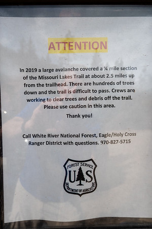 Avalanche Notice at Trailhead
