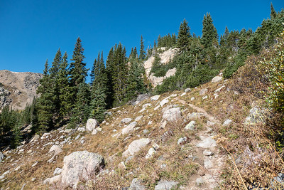 Trail to St Kevin Lake