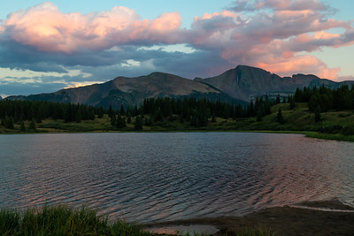 Sunset over Little Molas Lake