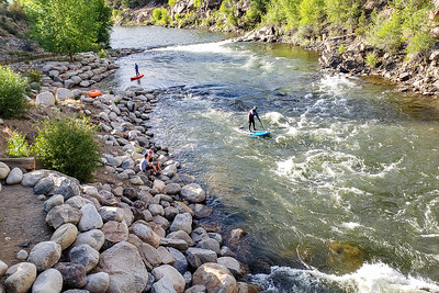 Paddleboarders on the River