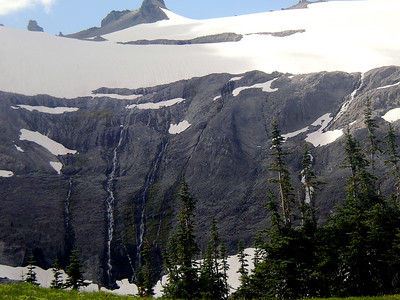 Waterfalls off into the distance.