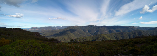 View to the south west from Mt Bushwalker.