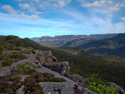 Looking south along the cliffs between Mt Bushwalker and Gadara Point.