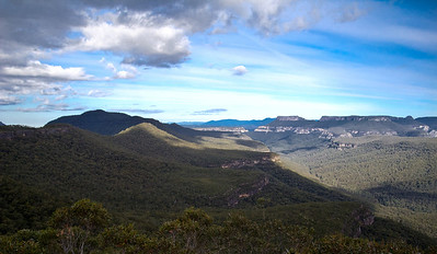 Looking towards Mt Talaterang from Mt Bushwalker Lookout.