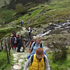 Climbing up the first steep section