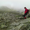 Graham coming down from Broad Crag