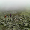 Coming down from the horrible boulder field on Broad Crag